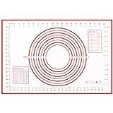 حصيرة خَبز من السيليكون من اوباي قياس 24 × 16 انش لترقيق العجين، حصيرة خَبز مضادة للالتصاق مع لوح قياس، حصيرة لعجن البيتزا وا