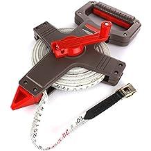 50 m Rollbandmaß Messgerät Maßband Bandmaß Messband Rollmeter Rahmenbandmaß