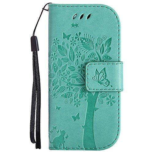 Hozor Nokia 3310 (2017) Handyhülle, zarte Baumprägung, aus Weichem PU-Leder & TPU-weichem Silikon, starker Magnetschließe mit Handschlaufe, zwei Kartensteckplätzen & Geldschlitz