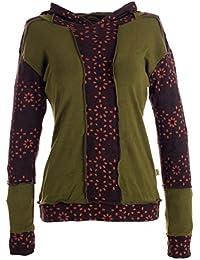 Vishes – Alternative Bekleidung – bedruckter Baumwollsweater mit Zipfelkapuze