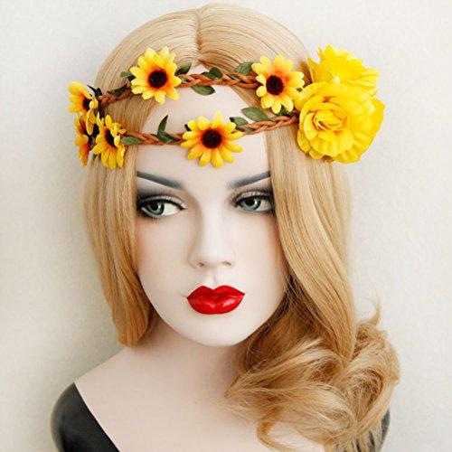 Frcolor Floral Stirnband Daisy Flower Crown Haar Kranz Kopfschmuck Haarband