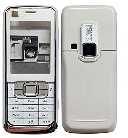 MAXXTREND Replacement Full Body Housing Back, Body Panel For Nokia 6120 Classic- White (best quelity)  available at amazon for Rs.359