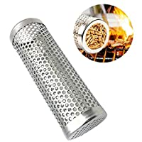Coxeer 6'' Pellet Smoker Tube Stainless Steel Grill Tube Barbecue Smoke Generator