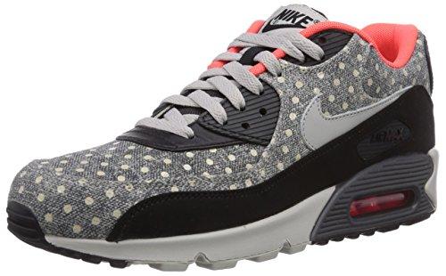 Nike Air Max 90 LTR 08 Premium Herren Laufschuhe Mehrfarbig (Black/Grnt-Anthrct-Brght Crmsn 006)