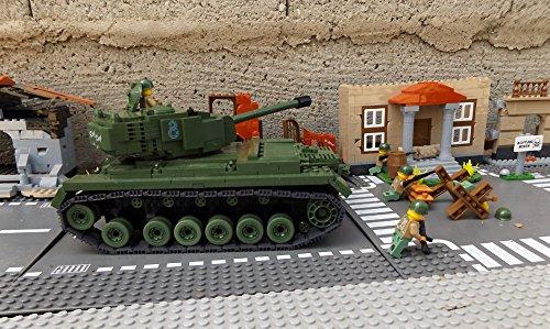 ★ World of Tanks 3008 – Bausteine US ARMY Panzer, 525 Teile, schwerer Kampfpanzer M46 PATTON, inkl. custom US ARMY Soldaten aus original Lego© Teilen ★ - 2