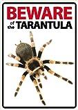 """Schild mit Spinne und Schriftzug """"Beware of The Tarantula"""", von Magnet & Steel"""
