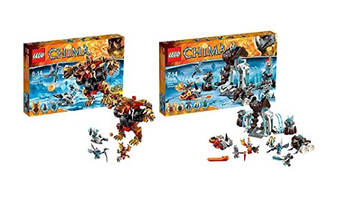 LEGO Legends of Chima Set 70225 und 70226 (Bladvics Grollbär & Die Eisfestung der Mammuts) - Legends Chima-sets Of Lego