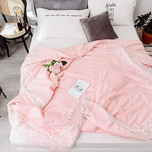 QMWNEBRV Fluffy Summer Silk Air Conditioning Quilt, 100% Baumwolle , Summer Water-Washed Cotton Air Conditioner, Schlafsaal for Studenten Mit Doppeltem Single Cool Core weiche -