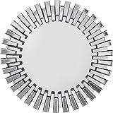 Kare Spiegel Sprocket Ø92cm, großer, Runder XXL Wandspiegel mit Silberrahmen, Moderner Design Dekospiegel, (H/B/T) 92x92x4,5cm
