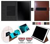 reboon Hülle für Samsung Galaxy Book 10.6 (LTE) Tasche Cover Case Bumper | in Braun Leder | Testsieger
