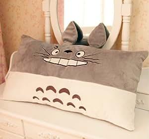 Le véritable amour Mon Voisin Totoro oreiller, bel oreiller amovible et lavable