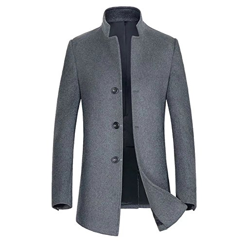 Herren Wollmantel Winter Wolle Mantel Business Schlank Lange Windbreaker Jacken Mens Trenchcoat Slim Fit Pea Coat Pea Coat Trenchcoat