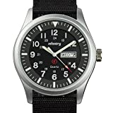 Best Mens Watches Under 500s - Infantry Men's Analogue Quartz Wrist Watch Date Day Review