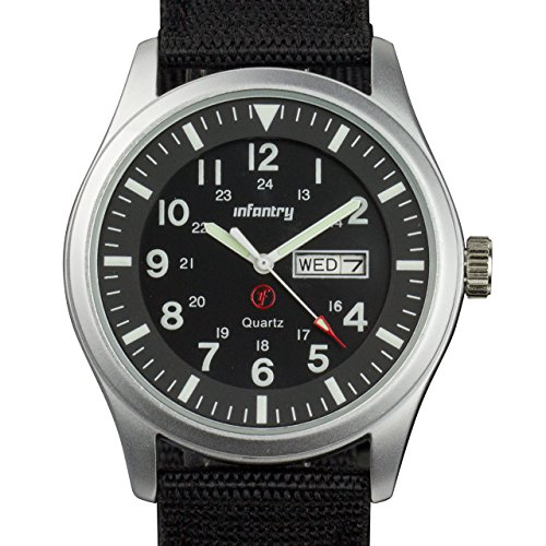 Infantry IN-044-S-N - Reloj de Bolsillo, Correa de Nailon Color Negro