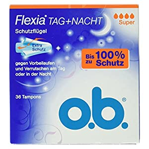 o.b. 0053299 Flexia Super Tampons - 36-Piece