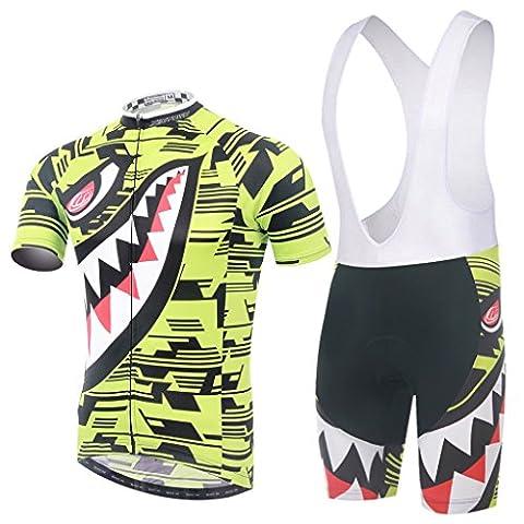 Skysper Men Comfortable Stylish Cycling Clothing Set Short Sleeve Cycling