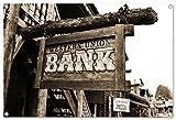 western bank Format: 80x60 cm Bild auf PVC-Plane/Banner, Hochwertiger XXL Kunstdruck als Wandbild inkl. Ösen!!