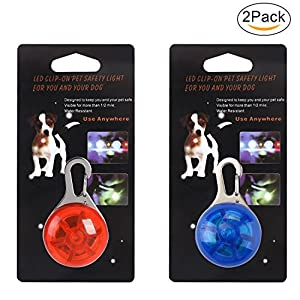 Top Munster Waterproof SpotLit Cat/dog Collar Light,LED Pet Safety Light Luminous Pendant for Outdoor Safety 18