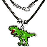 Unbekannt Kette -  Dinosaurier - Tyrannosaurus Rex  - für Kinder & Erwachsene - Schmuck / Anhänger aus Metall - Tieranhänger - Edelstahl / Metall - Sterlingsilber / S..