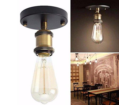 Antike Lampe Sockets (Wandlampen LED Vintage Metall Industrial E27 Edison Deckenleuchten Wandleuchte Lampenfassung Socket Fixture für Wandleuchte)