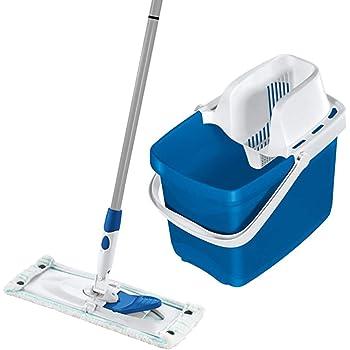 Leifheit 52085 Set Combi Clean M Pure Blue Set Bodenwischer Metall