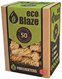 EcoBlaze Kamin-Anzünder und Natürlich Kaminanzünder 50 Box - Holzwolle beschichtetes Naturwachs. Feueranzünder Für Holzbrenner, Öfen, Holzkohle, Grillanzünder, Chimeneas und Lagerfeuer