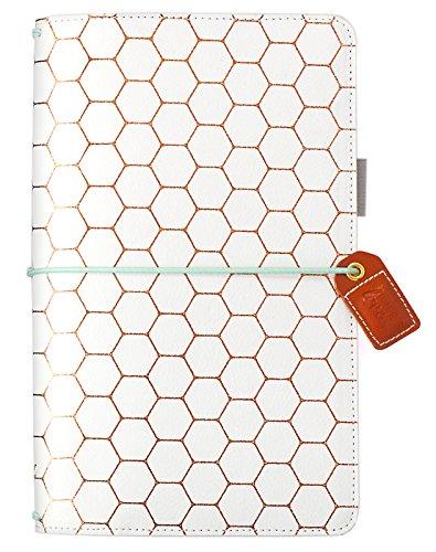 Webster's Pages TJ001-B Notizbuch, Walnuss Copper Hexagon -