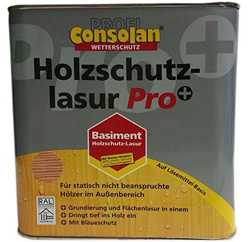 Consolan HLS 2in1 Pro Wetterschutzlasur Dekorative, flüssige Holzschutzlasur Seidenmatt 5 Liter