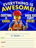 12Geburtstags-Einladungen mit passenden Umschlägen, verschiedene Designs erhältlich Lego
