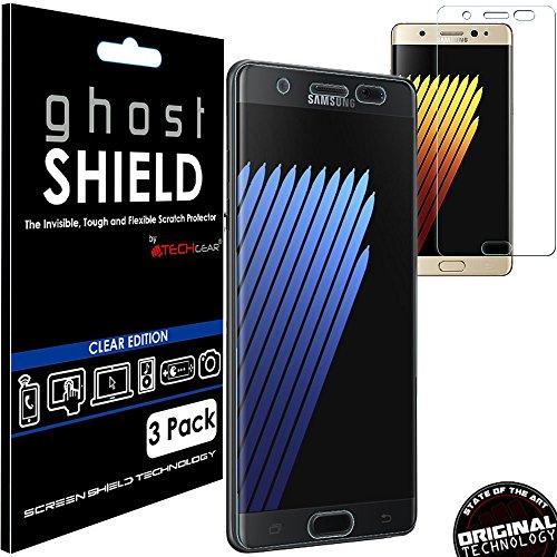 TECHGEAR [3 Stück Bildschirmschutz Kompatibel mit Samsung Galaxy Note 7 - [ghostshield] Genuine verstärkte TPU Bildschirmschutzfolie Guard mit Gesamte Display Deckung inkl. Gebogener Bereich
