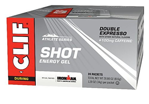Shot Energy Gel Double Expresso Flavour with Caffeine 34 g (Pack of 24)