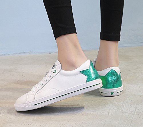 XTIAN - Scarpe Basse Stringate Donna bianco, verde
