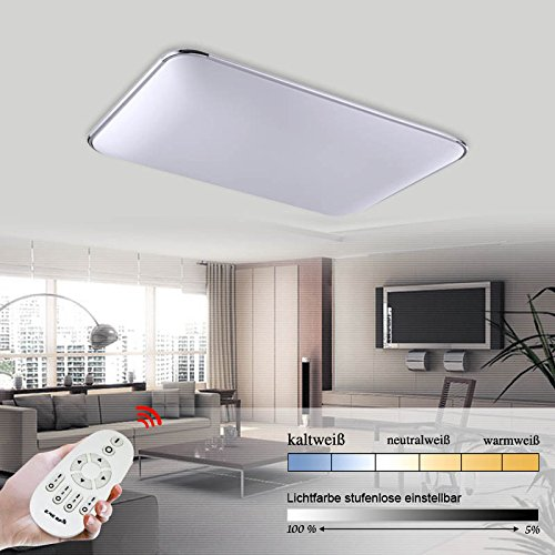 Hengda® 96W LED Dimmbar Lichtfarbe und Helligkeit einstellbar Deckenlampe 2700-6500K Leuchte Deckenleuchte IP44 Badezimmer geeignet Lampe