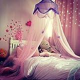 Kinder Prinzessin Bed Baldachin Hängende Kuppel Moskitonetz Vorhänge, Mädchen Schlafzimmer Nacht Zelt, Baby Bettwäsche Kuppelzelt, Heimtextilien spielen Lesezelt, Schmetterling,...