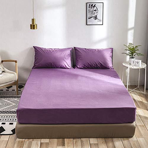 BBQBQ Druck Bett Matratzenbezug wasserdicht Matratzenschoner Pad Spannbetttuch getrennt Wasser Bettwäsche mit elastischen,Schleifmatratzenbezug lila 180 * 200 * 40cm1.8 -