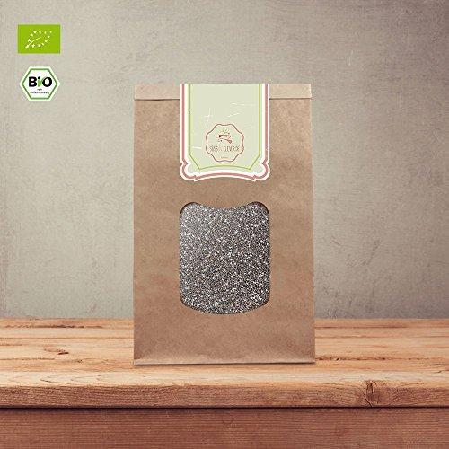 süssundclever.de® Bio Chiasamen | schwarz | 1 kg | plastikfrei und ökologisch-nachhaltig abgepackt | hochwertiges Naturprodukt | 100{cb7db32130bb6bebe3e967bc28018a37ae9918485aba2d250f6f9a608de0f33f} naturbelassen
