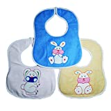 #10: CRACK4DEAL Cartoon Printed Baby Feeding Multi-Colored Bib Apron Jacket (Set of 3)