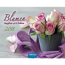 Notiz-Kalender Blumen 2018