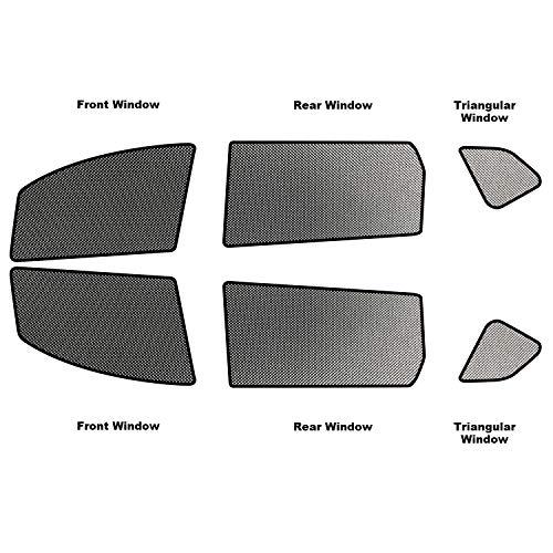 RUIYA Autofenster Sonnenschirm Angepasst für 2014-2018 X-Trail T32,Premium Auto Sun Shade für vollen UV-Schutz (6 Stücke)