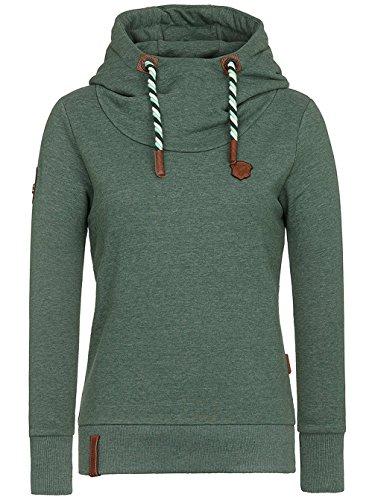 Naketano - Sweat à capuche - Uni - Manches Longues - Femme gris gris Pine Green Melange