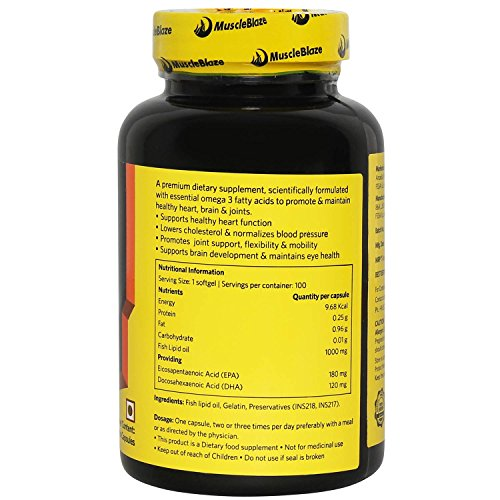 MuscleBlaze Fish Oil – 1000 mg (100 Capsules)