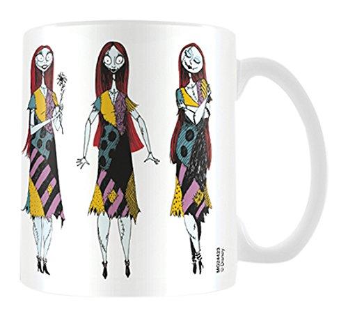 Pesadilla antes de Navidad Sally poses taza de cerámica, multicolor