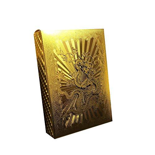 Carry stone Premium Qualität 24 Karat Gold Farbe Folie Poker Spielkarten Klassische Zaubertricks Werkzeug