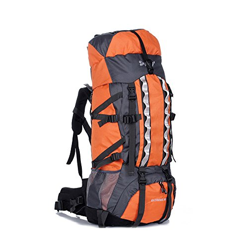80L Military Tactical Rucksack Molle Rucksäcke Camping Wandern Trekking Tasche Orange - orange