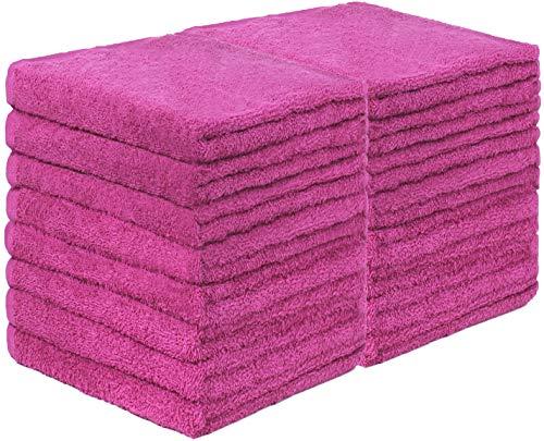 GREEN MARK Textilien 20er Pack Frottier Gästetücher mit Aufhänger 30x50cm GÄSTETUCH GÄSTE-Handtuch Farbe: Pink