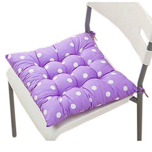 Blancho Intérieur/extérieur Soft Home/Bureau Siège carré Coussin respirant Coussin avec sangle, Dot Light Purple