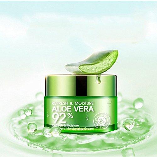 Aloe Vera Sun Cream (Weicici 50g feuchtigkeitsspendende Aloe Vera Gel Serum Essenz Creme Hautreparatur & Ölkontrolle & Kontraktive Pore)
