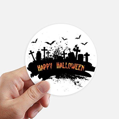 ght Friedhof Halloween Runde Sticker 10Cm Wand Koffer Laptop Motobike Aufkleber 8Pcs Diameter 10cm Mehrfarbig ()
