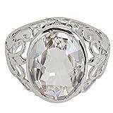 Yvesse Design Damen-Ring Sterling-Silber 925 rhodiniert Bergkristall RW17