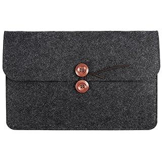 Anladia 11.6 Inch Felt Pocket Case Notebook Bag iPad Pro 10.5/9.7 Sleeve/iPad Air 2/iPad Air/Samsung Galaxy Tab Case Sleeve Carrying Protector Bag - Dark Grey